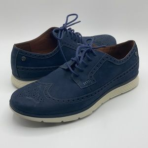 Timberland Blue Suede Wallingford Wingtip Shoes 9